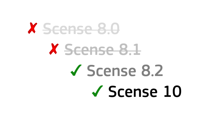 Scense support policy (update)
